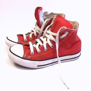 Boys All Star Converse Red Sneakers